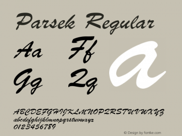 Parsek Converted from t:\PARSEK.TF1 by ALLTYPE图片样张
