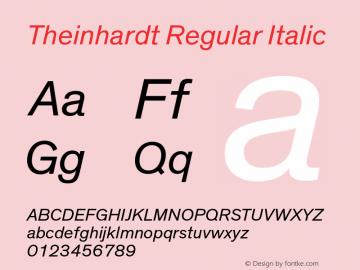 Theinhardt-RegularIta Version 3.001图片样张