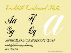 Cardihill-CondensedItalic Version 1.000图片样张