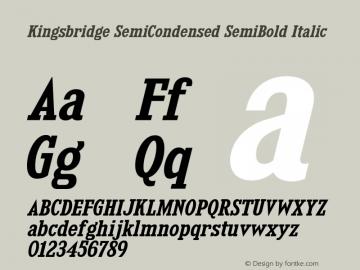 KingsbridgeScSb-Italic Version 1.000图片样张