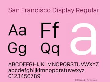 San Francisco Display Version 1.00 July 5, 2017, initial release图片样张