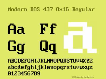 Modern DOS 437 8x16 2017.05.01图片样张