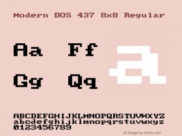 Modern DOS 437 8x8 2017.05.01图片样张