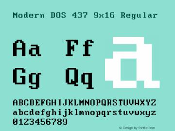 Modern DOS 437 9x16 2017.05.01图片样张