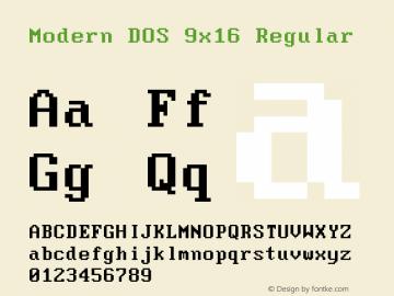 Modern DOS 9x16 2017.05.01图片样张