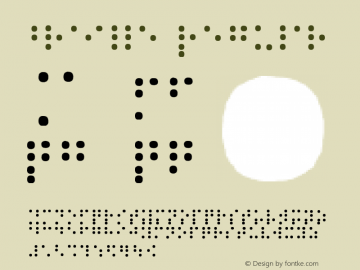 braille Regular 1.0图片样张