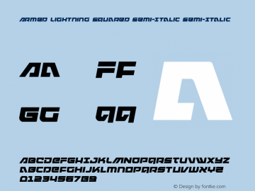 Armed Lightning Squared Semi-Italic Version 1.0; 2017图片样张