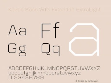 KairosSansW1G-ExtExtraLt Version 1.00图片样张