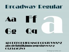 BroadwayBT-Regular 2.0-1.0图片样张