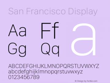 San Francisco Display  图片样张
