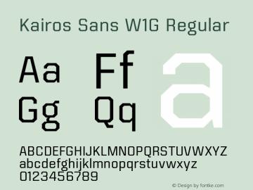 KairosSansW1G-Regular Version 1.00图片样张