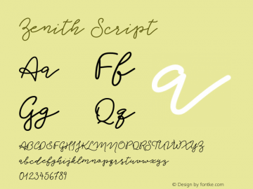 Zenith Script Version 1.000图片样张