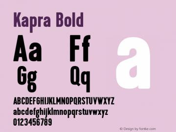 Kapra-Bold Version 1.000;PS 001.001;hotconv 1.0.56图片样张
