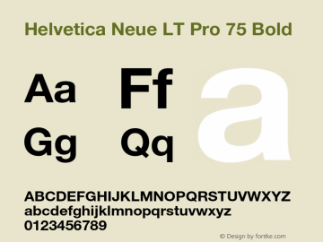 HelveticaNeueLTPro-Bd Version 1.000;PS 001.000;hotconv 1.0.38图片样张