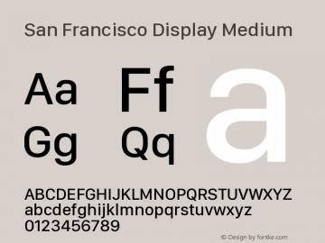 San Francisco Display Medium Version 1.00 March 27, 2017, initial release图片样张