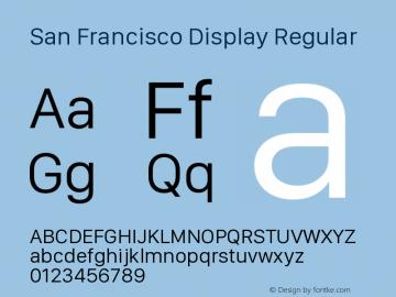 San Francisco Display Regular Version 1.00 March 27, 2017, initial release图片样张
