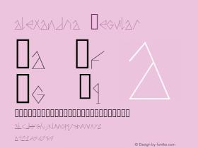alexandria Regular Version 1.000;PS 001.001;hotconv 1.0.56图片样张