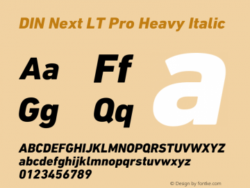 DINNextLTPro-HeavyItalic Version 1.200;PS 001.002;hotconv 1.0.38图片样张