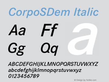 CorpoSDem Italic Version 2.00图片样张