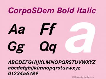 CorpoSDem Bold Italic Version 2.00图片样张