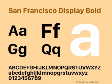 San Francisco Display Bold Version 1.00 December 23, 2016, initial release图片样张