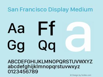 San Francisco Display Medium Version 1.00 December 23, 2016, initial release图片样张