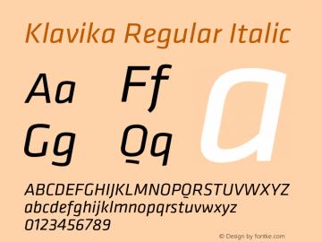 Klavika-RegularItalic Version 3.003图片样张