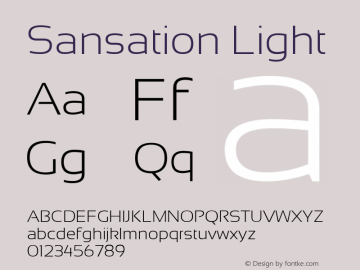 Sansation Light Version 1.2图片样张