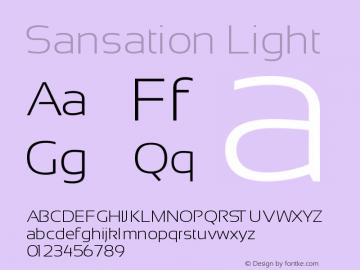 Sansation Light Version 1.2图片样张