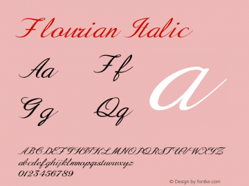Flourian-Italic Version 1.000图片样张