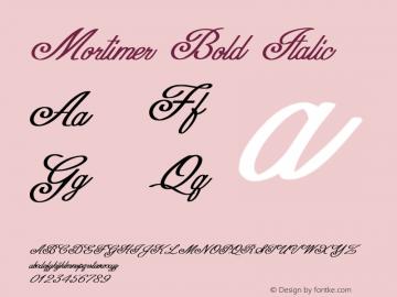 Mortimer-BoldItalic Version 1.000图片样张