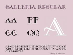 Galleria Macromedia Fontographer 4.1 6/6/96图片样张