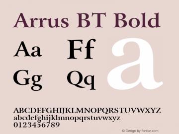 Bitstream Arrus Bold BT spoyal2tt v1.61图片样张