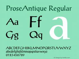 ProseAntique Macromedia Fontographer 4.1 6/6/96图片样张