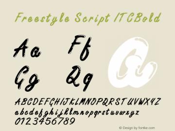 Freestyle Script ITCBold Macromedia Fontographer 4.1 6/6/96图片样张