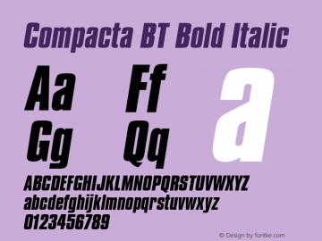 Compacta Bold Italic BT spoyal2tt v1.30图片样张