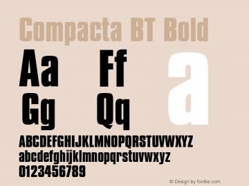Compacta Bold BT spoyal2tt v1.30图片样张