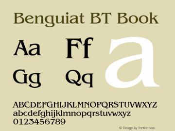 Benguiat Book BT spoyal2tt v1.25图片样张