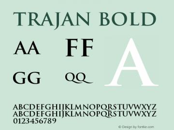 Trajan Bold Version 001.000图片样张