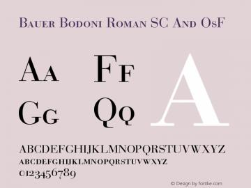 BauerBodoni-RomanSCAndOsF Version 001.003; t1 to otf conv图片样张
