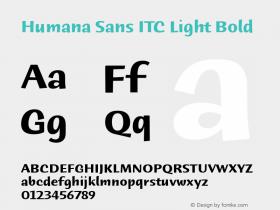 Humana Sans ITC Bold Version 2.0图片样张