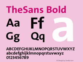 TheSans-Bold 1.000图片样张