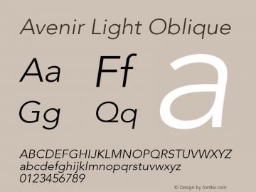 Avenir Light Oblique 8.0d5e4图片样张