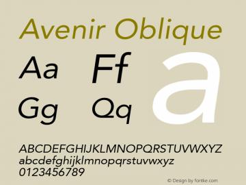 Avenir Oblique 8.0d5e4图片样张