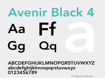 Avenir-Black4 001.000图片样张