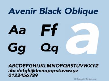 Avenir Black Oblique 8.0d5e4图片样张