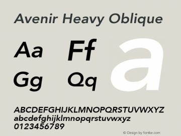 Avenir Heavy Oblique 8.0d5e4图片样张