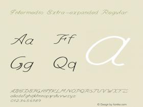 Intermedio-ExtraexpandedRegular Version 1.000图片样张