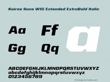KairosSansW1G-ExtExtraBdIt Version 1.00图片样张
