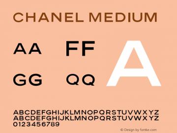 Chanel-Medium Version 001.002; t1 to otf conv图片样张